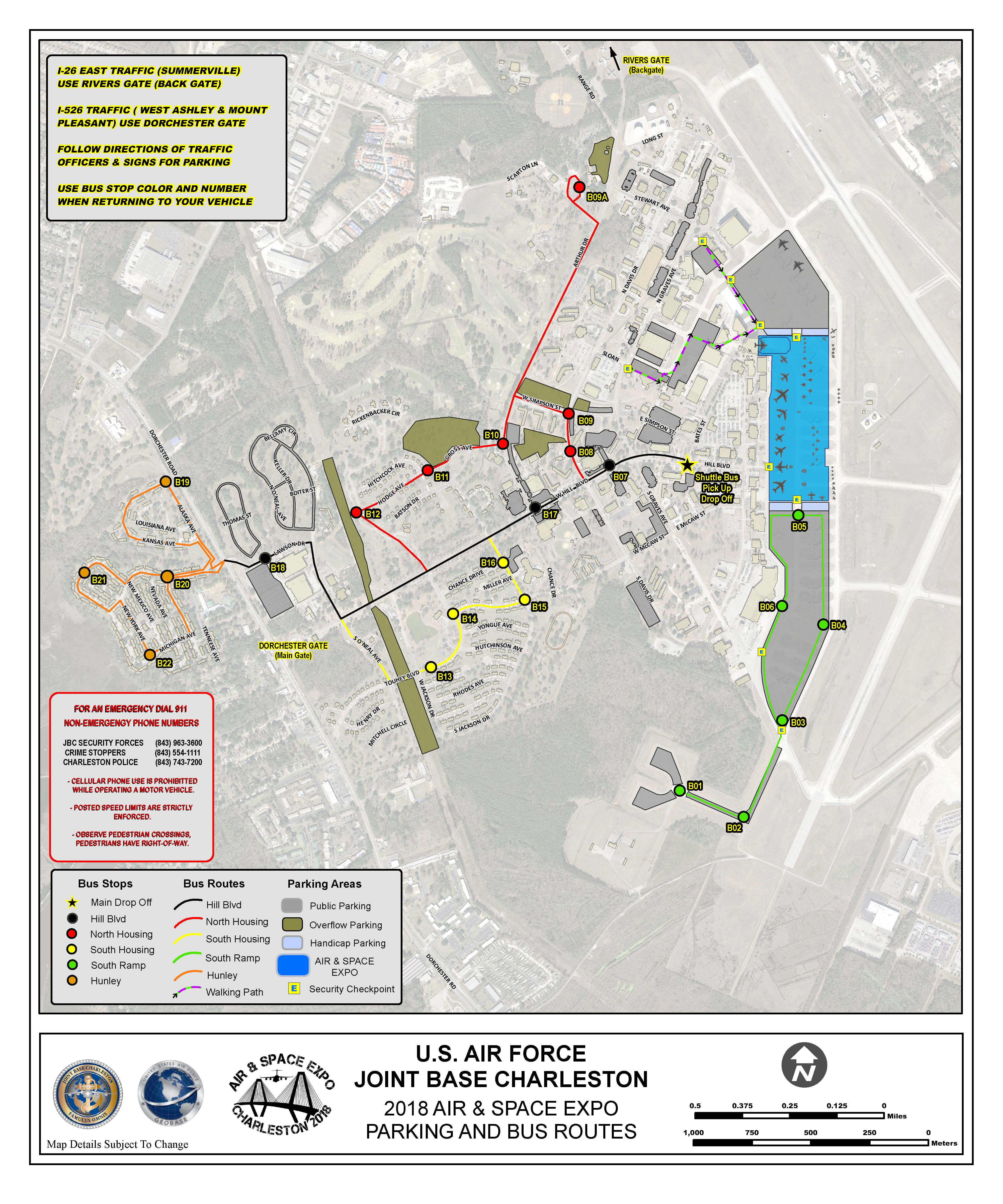 Charleston Air Force Base Map on