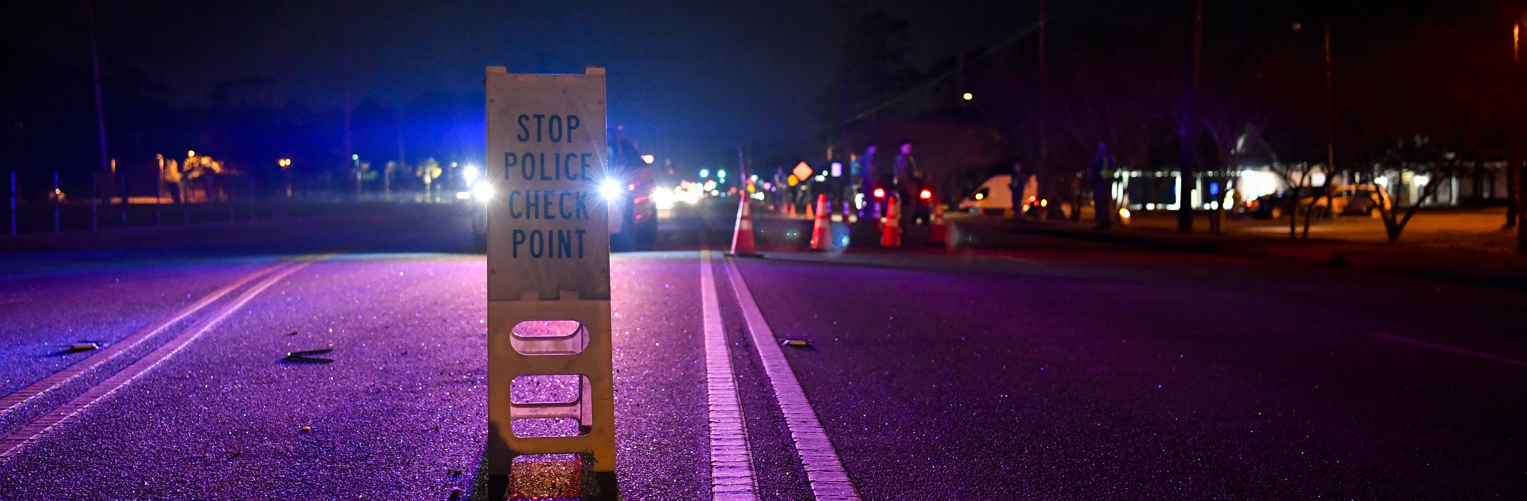 Members of the 628th Security Forces Squadron set up a DUI checkpoint Feb. 3, 2019, at Joint Base Charleston, S.C. Patrolmen checked for IDs, insurance and registration, as well as making sure there were no impaired drivers.